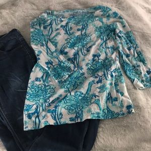 Lilly Pulitzer quarter sleeve t shirt